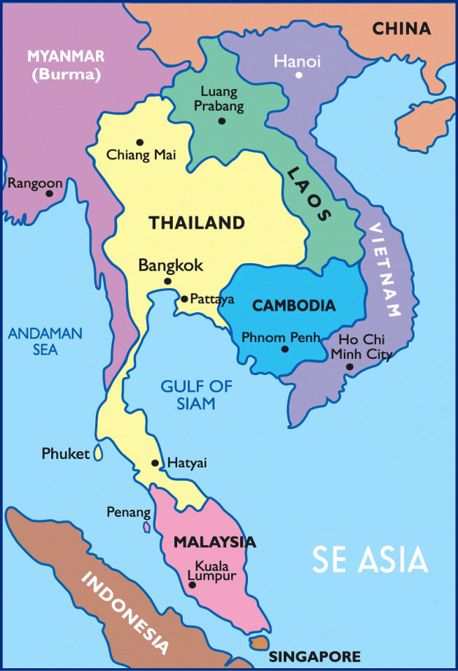Maps Update 1204765 East Asian Countries Map Map of SouthEast – Southeast Asian Country Map